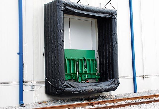 Inflatable Dock Seals Amp Shelters Kelley Entrematic Dock